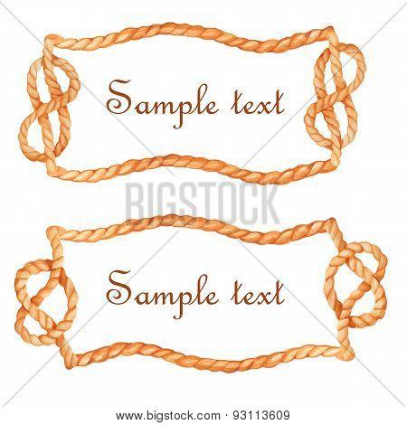 Watercolor rope frame
