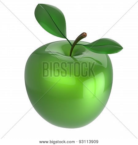 Green Apple Nutrition Fruit Antioxidant Fresh Ripe Organic Icon