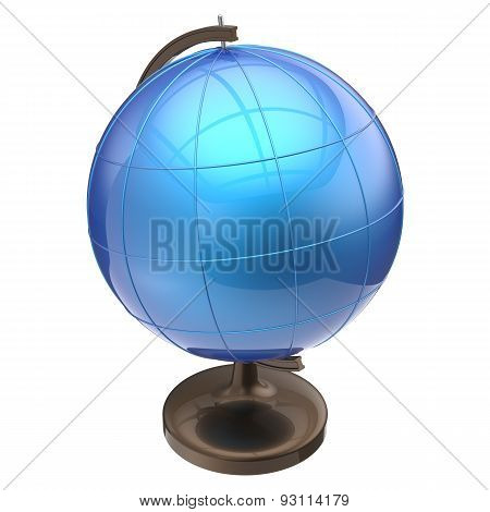 Blue Globe Blank Sphere Earth Planet Global Geography Icon