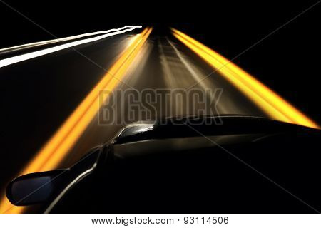 Driving At Night Highway