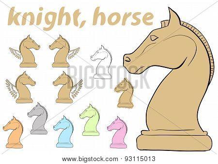 Knight chessman clipart