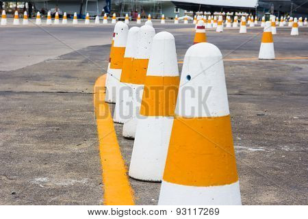 Traffic Cone On Road Track