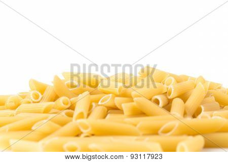 Penne Isolated On White Background