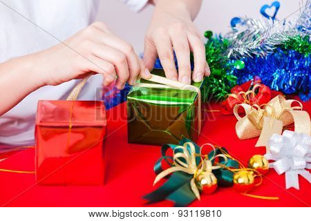 Celebration Theme With Christmas & New Year Gifts