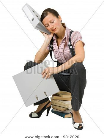 The Girl Sleeps On The Books