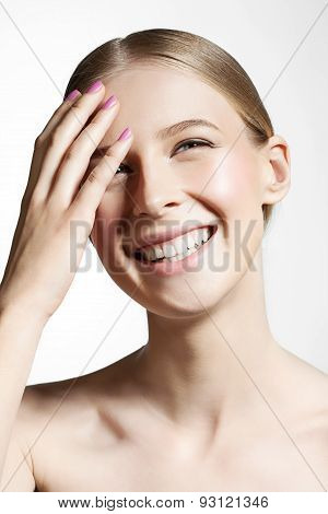 Woman With Beautiful Skin And Smile