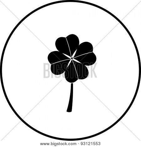 clover with four leaves symbol