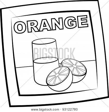powdered orange beverage packet