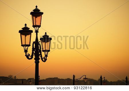 Venetian lamp in the morning
