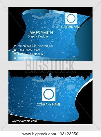 Cool waved business card set design illustration vector