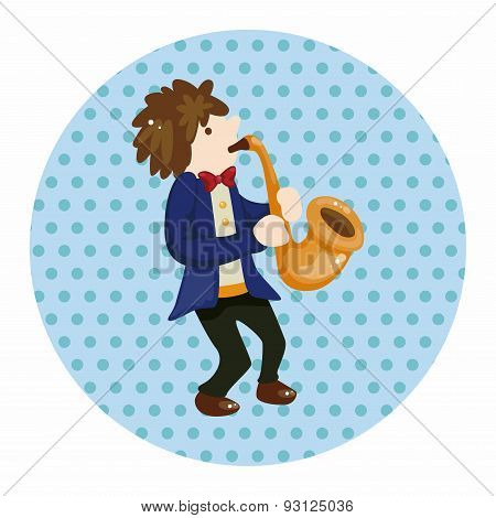 Character Musician Saxophone  Theme Elements