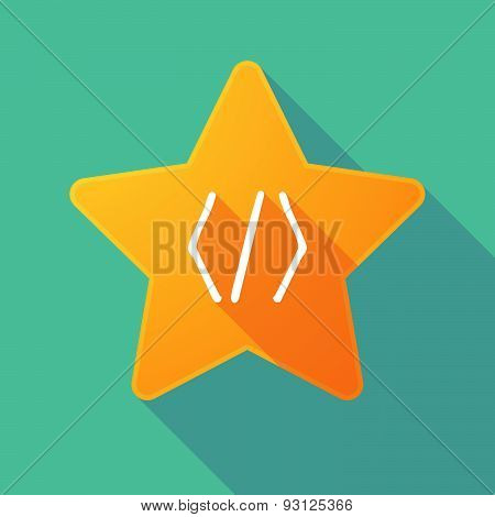 Star Icon With A Code Sign