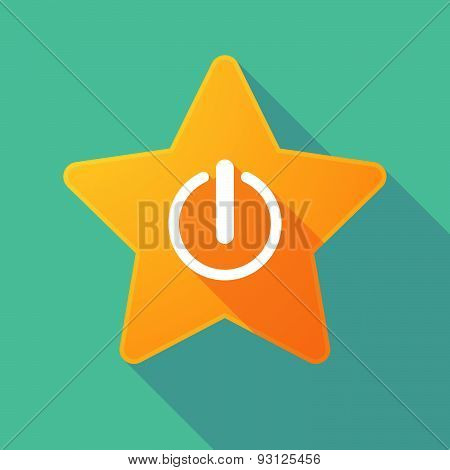 Star Icon With An Off Button