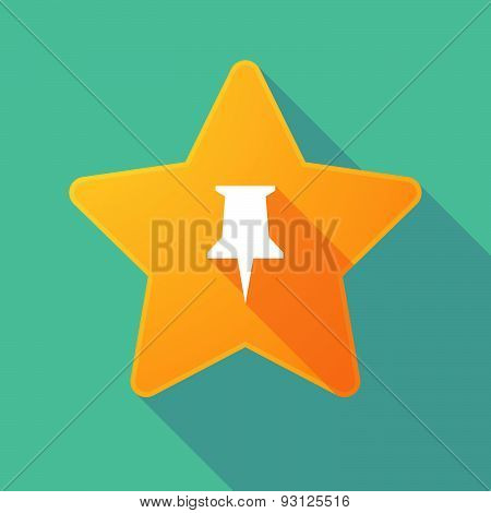Star Icon With A Pushpin