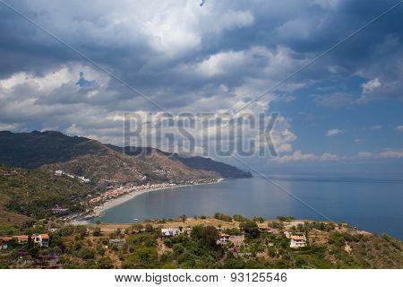Before Storm In Taormina, Sicily, Italy