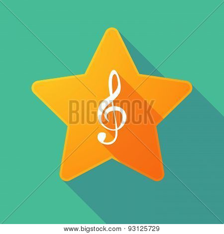 Star Icon With A G Clef