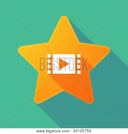 Star Icon With A Multimedia Sign