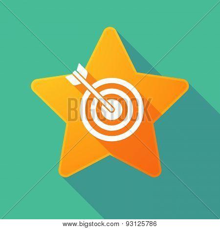 Star Icon With A Dartboard