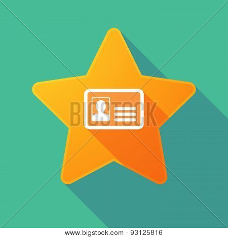 Star Icon With An Id Card