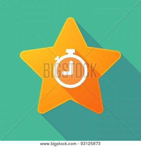 Star Icon With A Timer