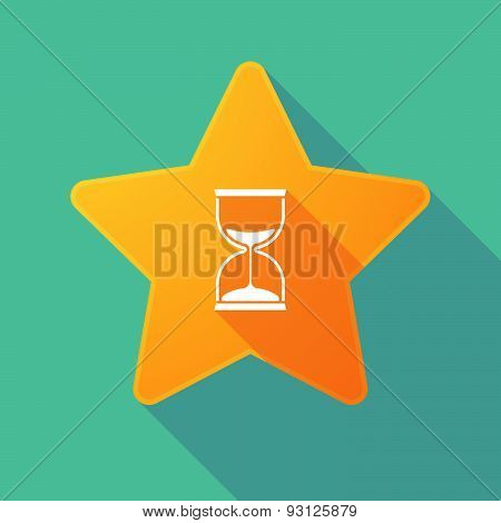 Star Icon With A Sand Clock