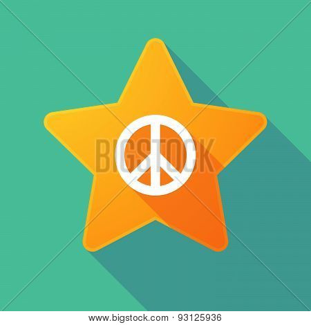 Star Icon With A Peace Sign