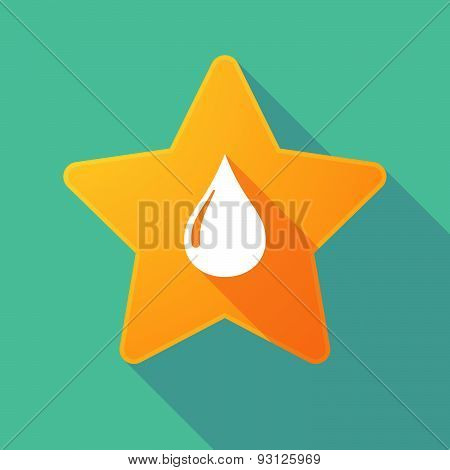 Star Icon With A Fuel Drop