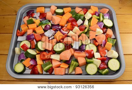 Chopped Raw Vegetables - Suitable For Roasting