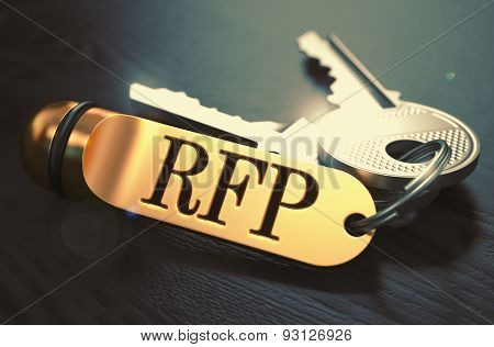 RFP written on Golden Keyring.