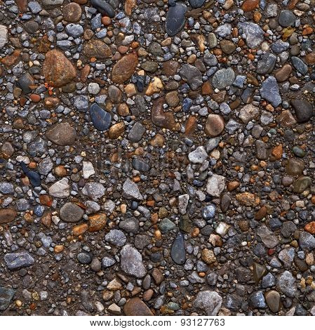Wet Pebble Texture Or Background