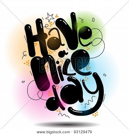 have a nice day vector greeting card