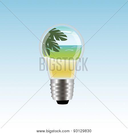 Lamp With Beach