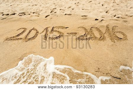 Conceptual Photo Of Year 2016 Changing 2015