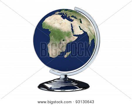 3D Render Illustration Of  Classroom Globe