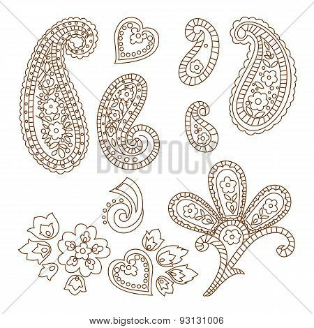 Paisley vector patterns