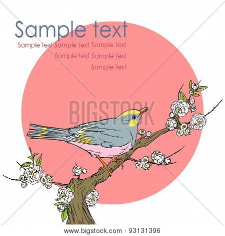 Background with bird and space for text