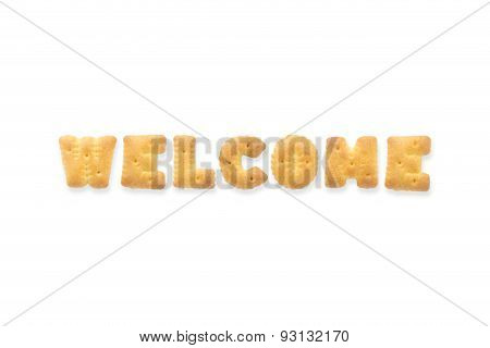The Letter Word Welcome Alphabet  Cookie Crackers