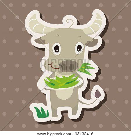 Animal Cattle Cartoon Theme Elements
