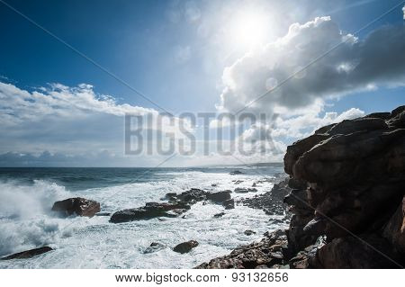 Raindrops On A Rocky Shore