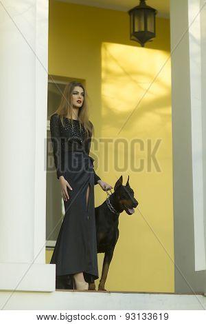 Girl And Mastiff