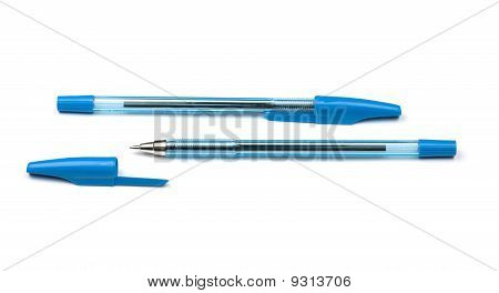 Two Blue Pens