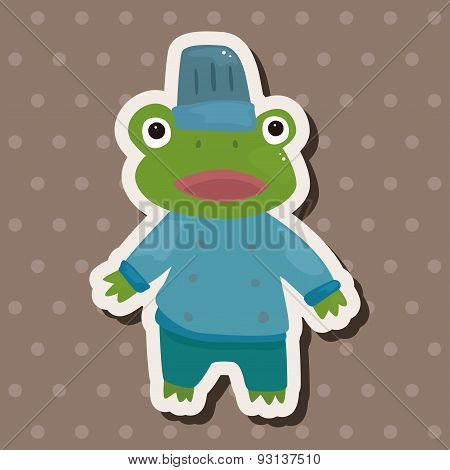 Animal Frog Chef Cartoon Theme Elements