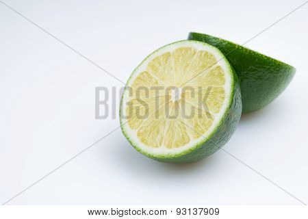 Fresh cut lime - isolated