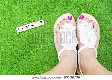 Summer Woman Feet