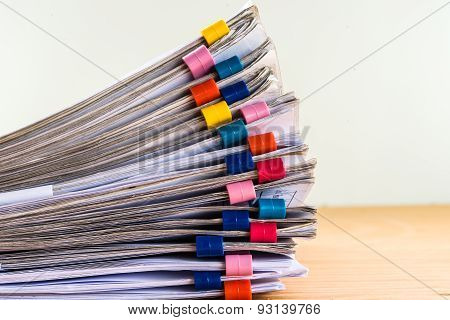 Close Up Stack Document Of Account Include Sales