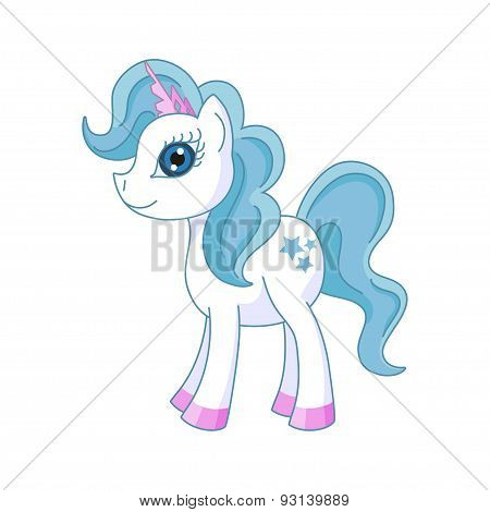 Vector illustration of cute horse princess