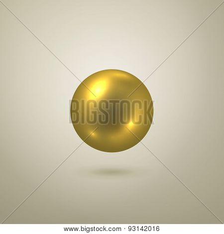 Glossy Vector Gold Sphere