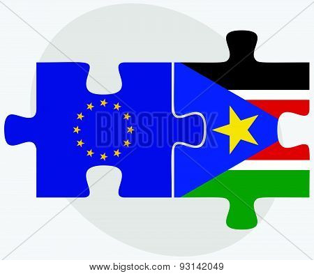 European Union And South Sudan Flags