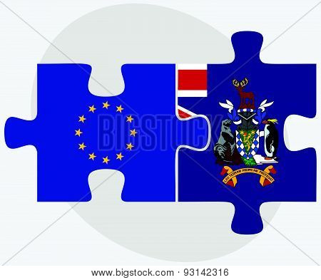 European Union And South Georgia And The South Sandwich Islands Flags