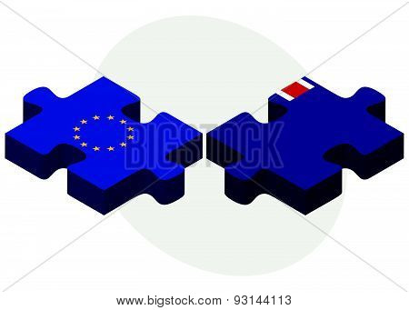 European Union And Pitcairn Islands Flags